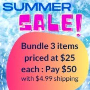 Summer sale on all $25 items
